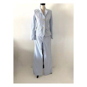 Vineyard Vines Cotton White Blue Stripped Suit 6